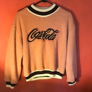 Vintage Cropped Coca-Cola Sweater